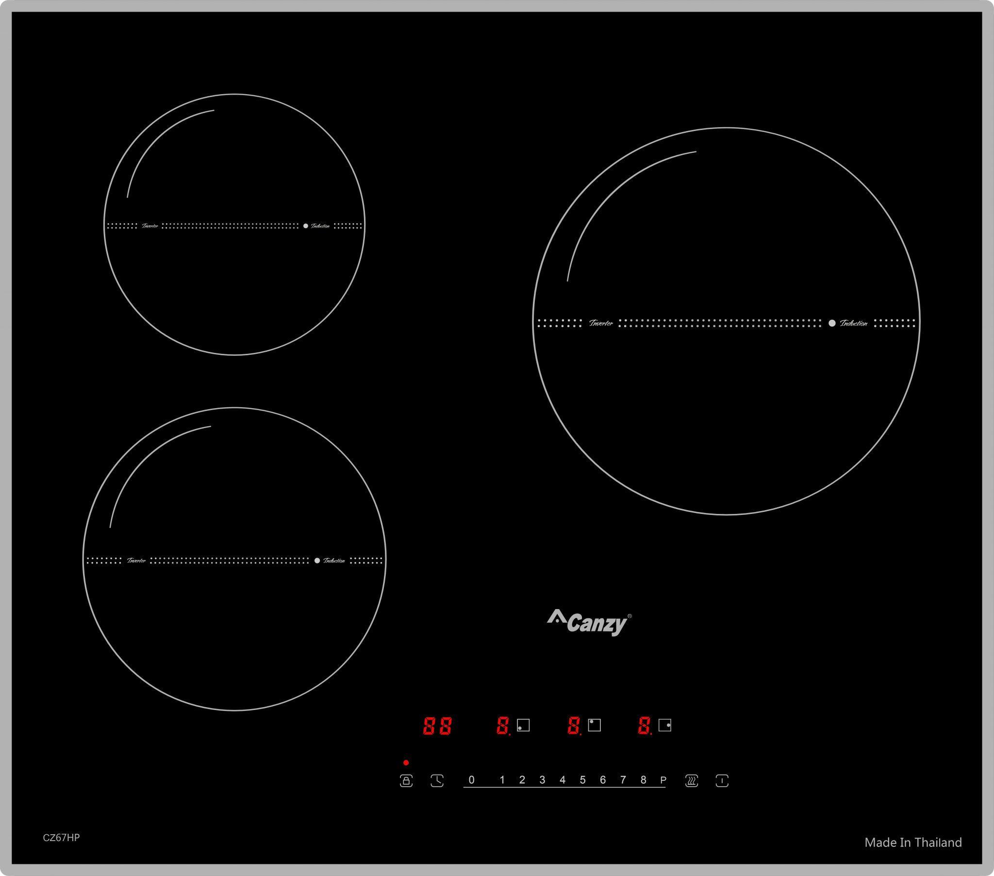 Bếp từ Canzy CZ 67HP ba vùng nấu inverter tiết kiệm điện