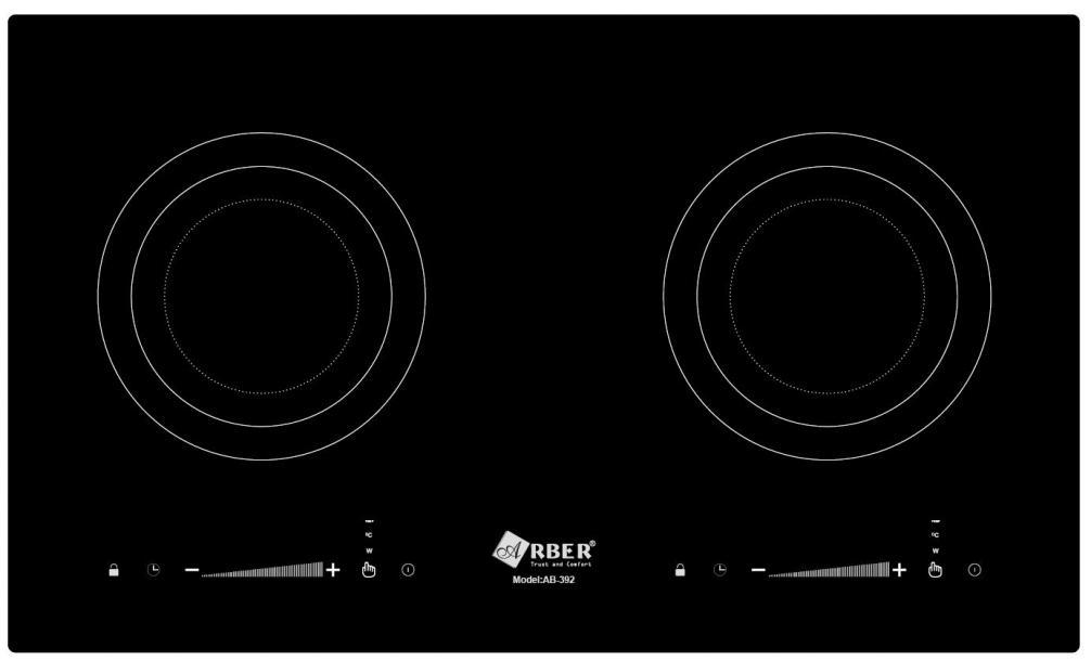 Bếp từ Arber AB-392 giá rẻ bảng điều khiển trượt slide