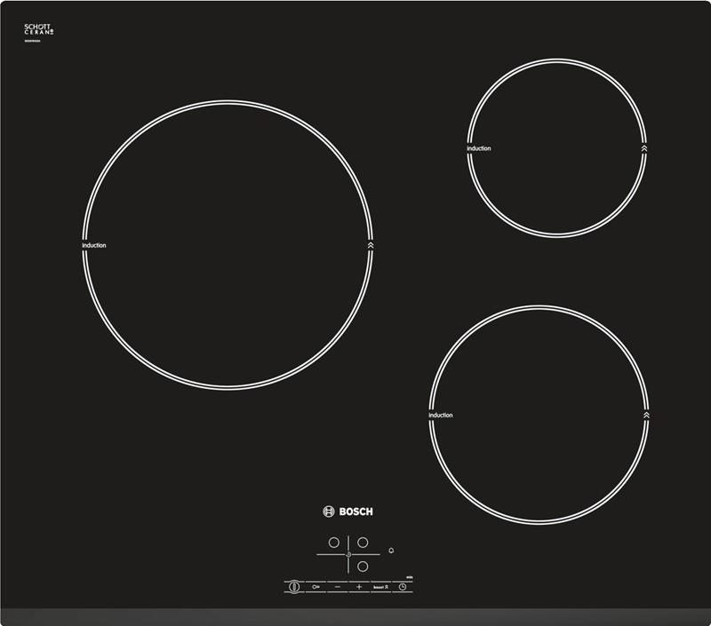 Bếp từ Bosch PIM631B18E xuất xứ châu Âu, 3 vùng từ đa năng