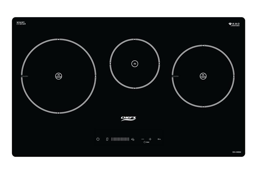 Bếp từ Chefs EH-IH534 kết hợp 3 vùng nấu chính hãng, giá tốt