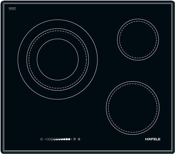 Bếp điện Hafele HC-R603B ba vùng nấu điện