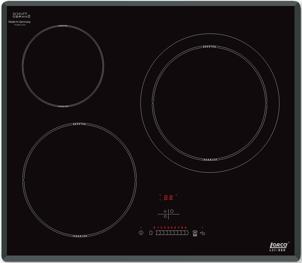 Bếp Từ Lorca LCI 360 sở hữu 3 vùng đa năng, tiết kiệm điện