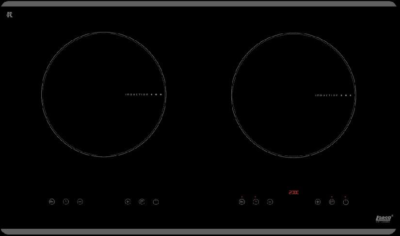 Bếp từ Lorca - TA 1006C hai vùng nấu giá rẻ chính hãng