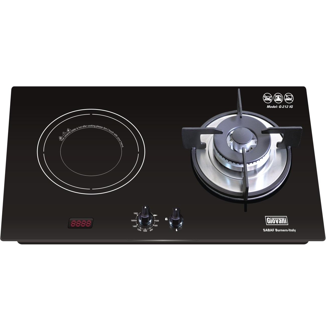 Bếp hỗn hợp từ và gas Giovani G212 IG không ngại mất điện