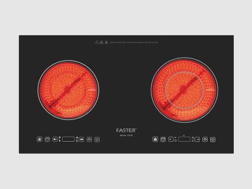 Bếp điện Faster FS 2E phù hợp với mọi chất liệu xoong nồi