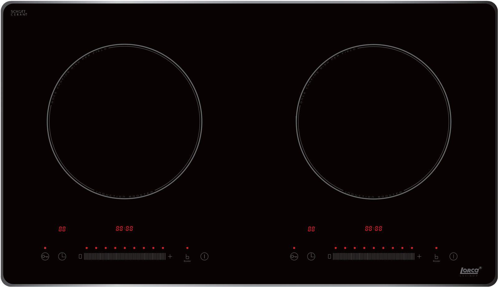 Bếp từ Lorca LCI-807 bảng điều khiển trượt siêu nhạy
